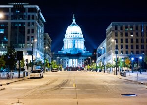The Wisconsin Capitol Building in Madison. (Photo courtesy of Jordan A Richmond/ Flickr)