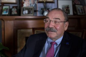 State Democratic Chairman Gilberto Hinojosa said the law places a burden on minority voters, decreasing the number of Democrats who can turn out to vote. (Photo by Pinar Istek/News21)