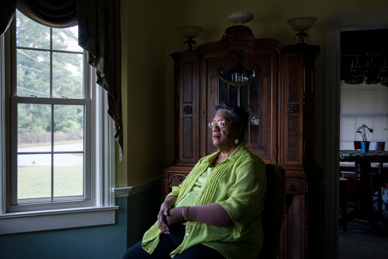 "Edith Ingram, 74, is just called ""The Judge"" by many people in Sparta, Georgia, after being elected in 1968 as the first black probate judge in the United States. On her first day of work, white men stood at the base of the courthouse and threatened to shoot her in the back if she walked up the steps. She did anyway, and remained in office for over three decades. (Photo by Roman Knertser/News21)"