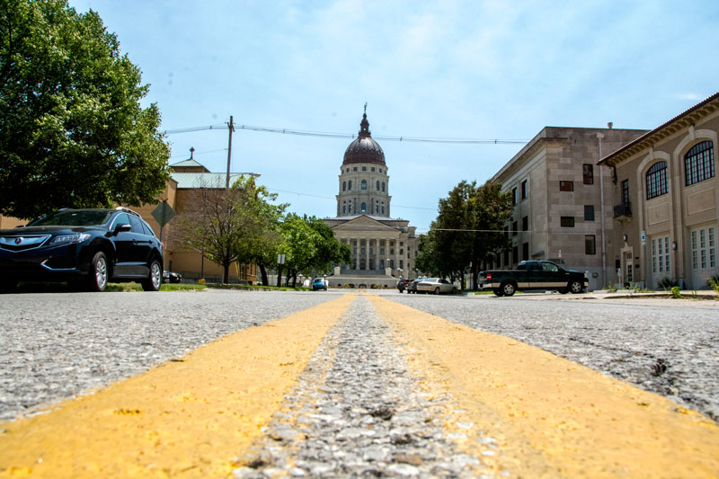 The Kansas Capitol in Topeka. (Sarah Pitts/News21)
