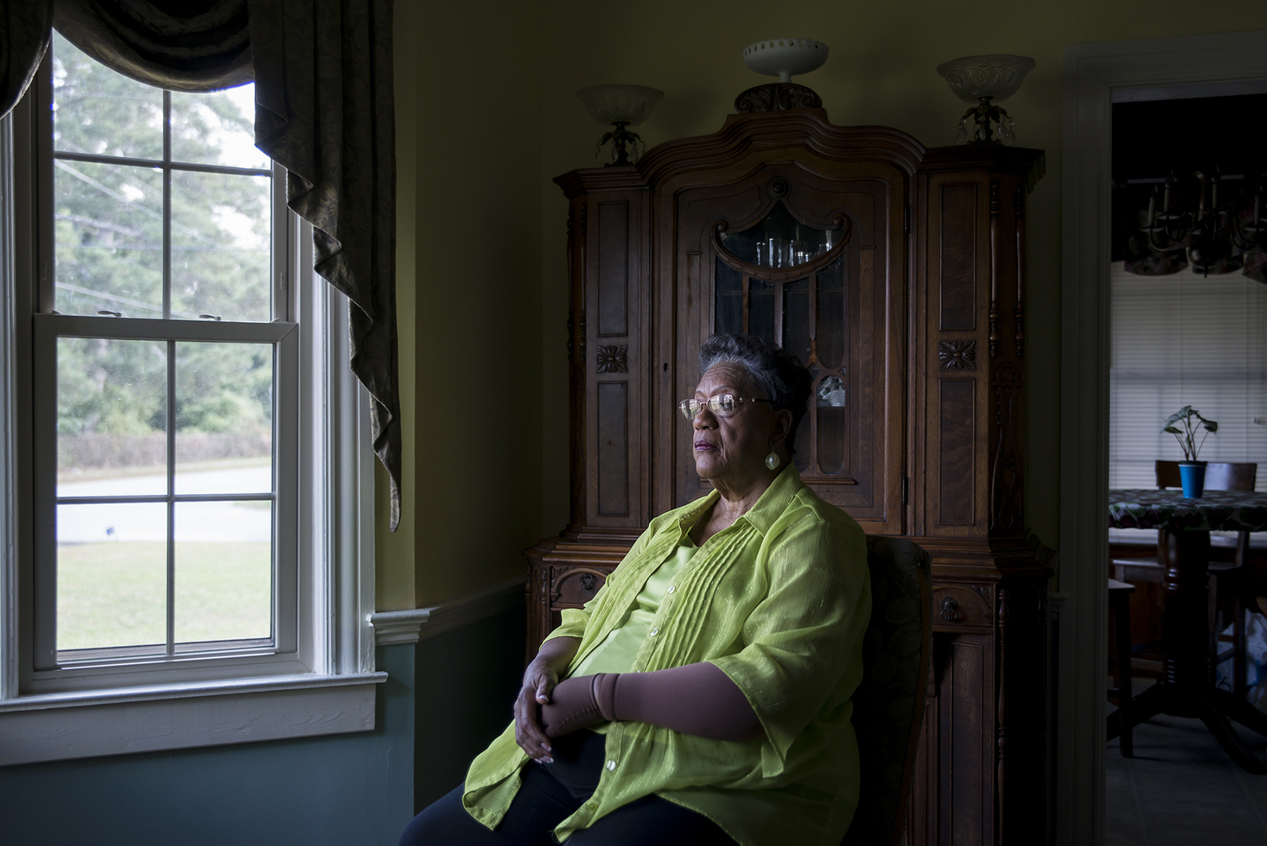 "Edith Ingram, 74, is just called ""The Judge"" by many people in Sparta, Georgia, after being elected in 1968 as the first black probate judge in the United States. On her first day of work, white men stood at the base of the courthouse and threatened to shoot her in the back if she walked up the steps. She did anyway, and remained in office for over three decades. (Roman Knertser/News21)"