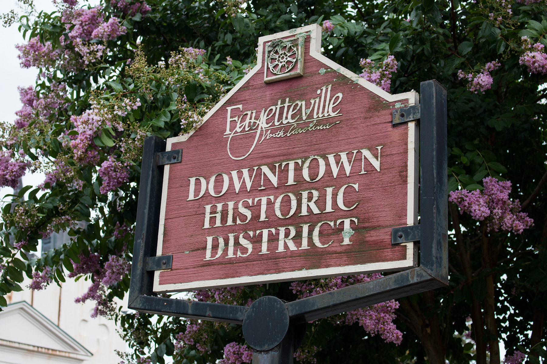 Historic downtown Fayetteville, North Carolina, is home to many colonial buildings and cobblestone streets. (Erin Vogel-Fox/News21)