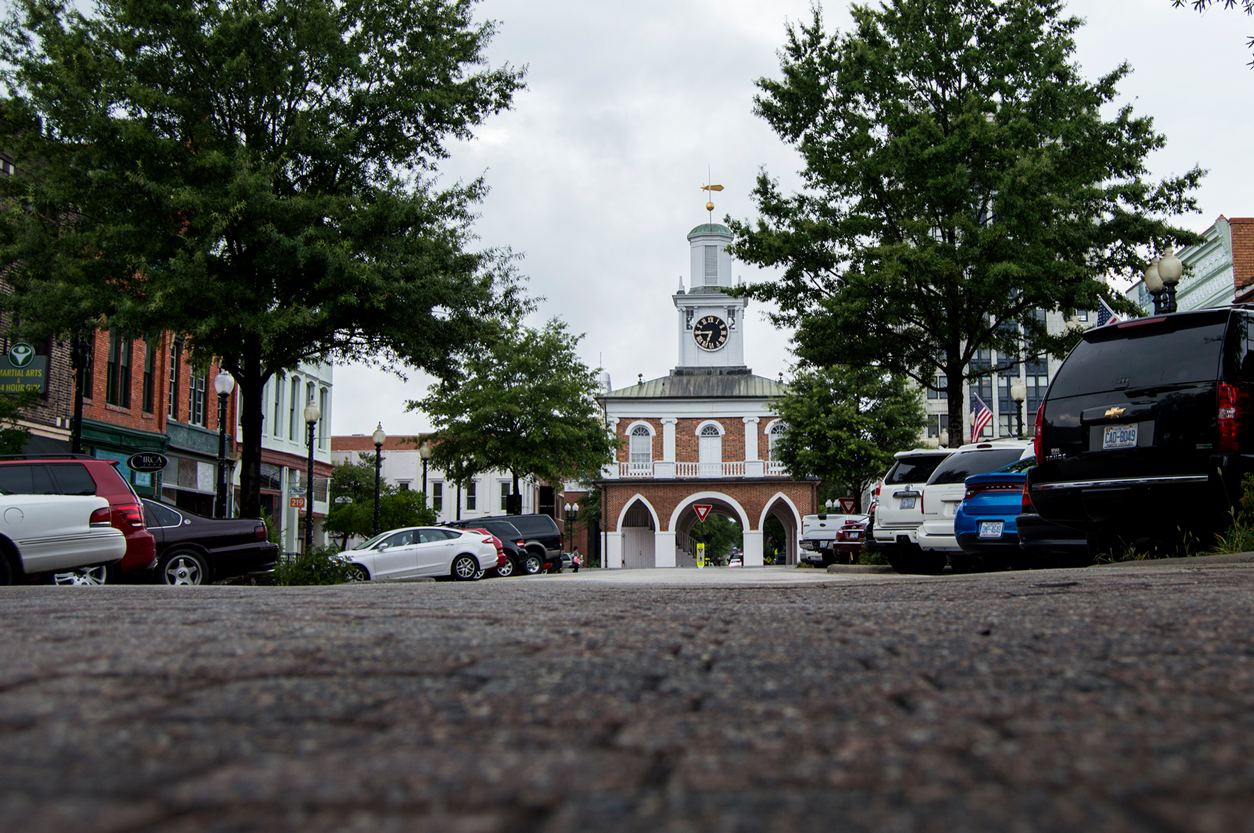 The Market House in Fayetteville, North Carolina, was named a national historic landmark in 1973. It was built in 1832. (Michael Olinger/News21)