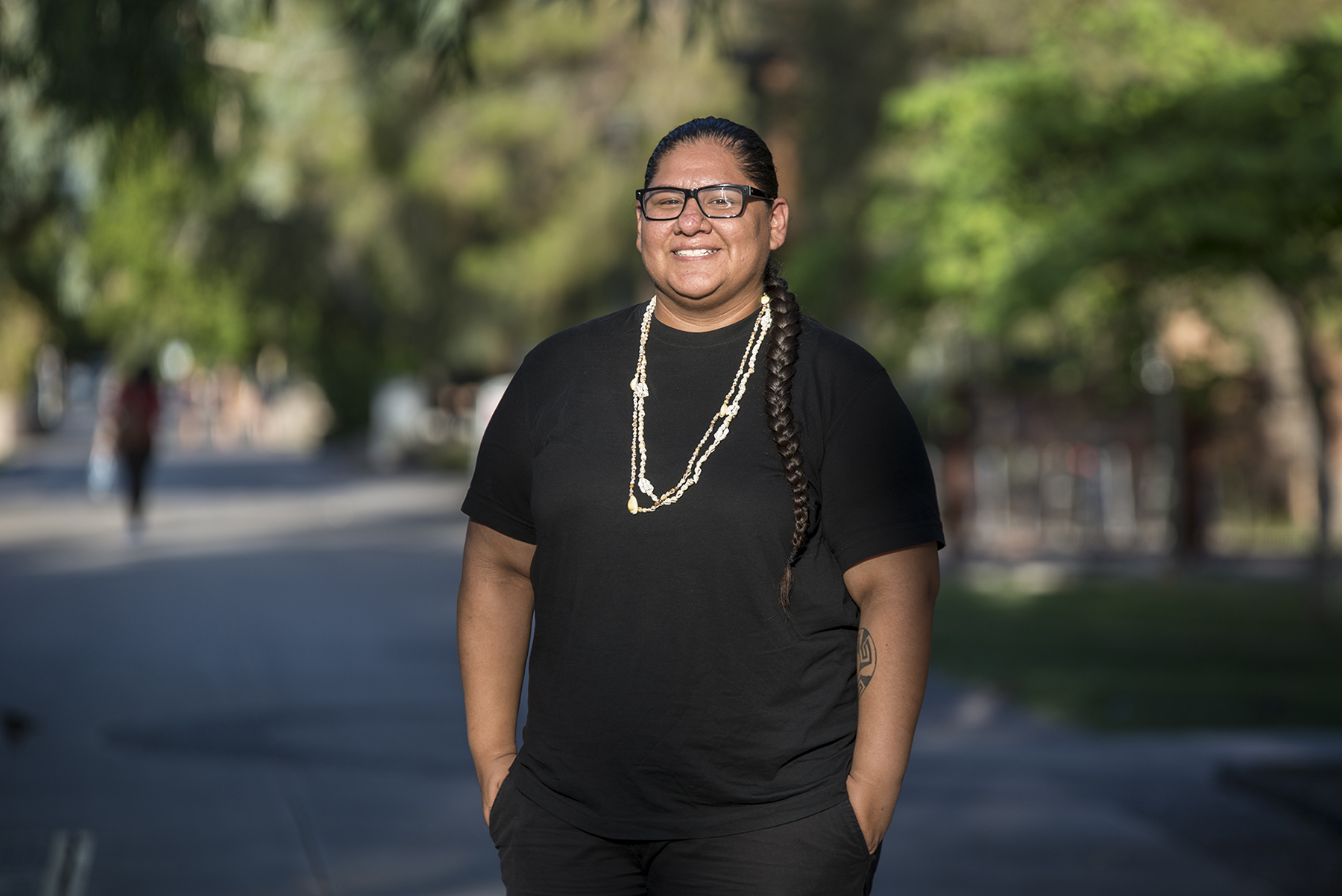 Mikah Carlos studies at Arizona State University and lives in the Salt River Pima-Maricopa Indian Community. She said a poll worker refused to let her use her tribal ID to vote in a recent election in Arizona. (Roman Knertser/News21)