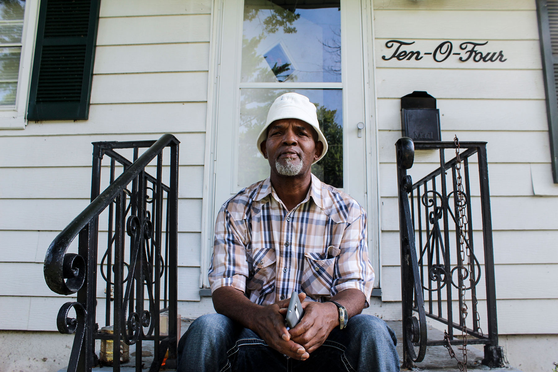 "Longtime Ferguson resident Dennis Williams talks about how ""things have begun to fall into place"" since the killing of Michael Brown and the protests throughout the nation. He says the city has made changes and people are starting to ""get up"" and move on with their lives. (Phillip Jackson/News21)"