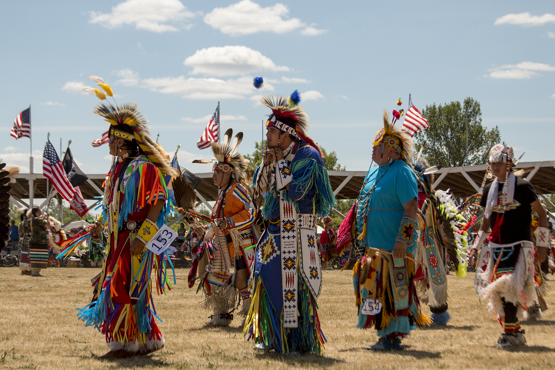 The Sisseton Wahpeton Oyate tribe conducted its 149th annual Wacipi, also known as a powwow, during the Fourth of July weekend in South Dakota. It is the second-oldest Wacipi in the nation. It was once illegal for tribes to practice their religious ceremonies, so they passed off their cultural celebration as a Fourth of July festivity. (Mike Lakusiak/News21)